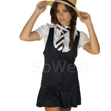 NEW!!! ON SALE - £15.99 - St #trinians #FancyDress 5 piece Outfit School Girl Outfit Costume  Buy here: http://sowestfancydress.com/products/ladies-fancy-dress/fancy-dress-5pc-outfit-school-girl-for-st-trinians-nights-sz-8-10-12-14-16-18-20/