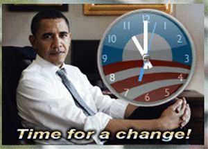 Obama countdown clock and timer