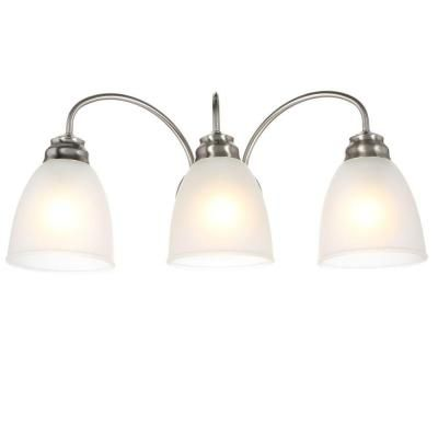 Commercial Electric 3 Light Brushed Nickel Vanity
