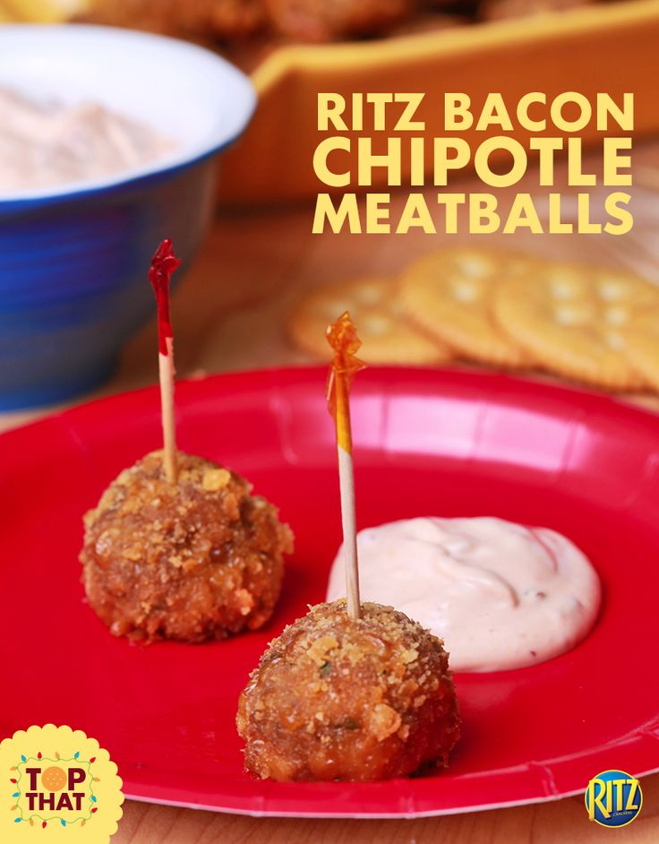 Small plates, big taste. RITZ Chipotle Meatballs will kick start any party!