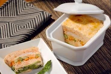 Recette de Terrine de langoustines et saumon aux petits légumes