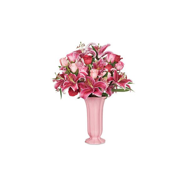 Valentine Showstopper Bouquet - Calyx Flowers ❤ liked on Polyvore featuring home, home decor, floral decor, flowers, garden, flower home decor, valentines bouquet, valentine home decor, flower stem and flower bouquet