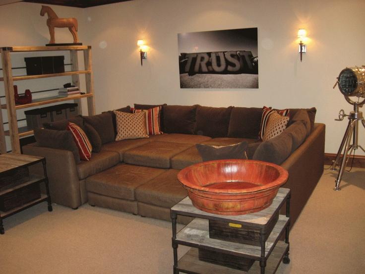 Mitchell Gold Dr. Pitt sectional sofa. : Basement redo ...