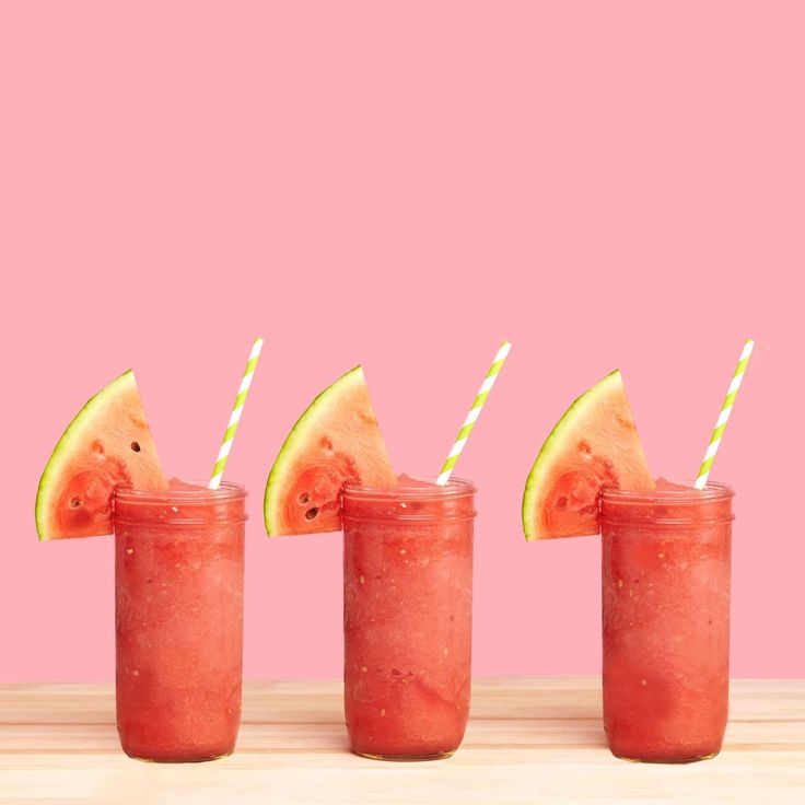 This stupid-easy recipe requires no ice. Frozen watermelon cubes do the job on their own. I know—it's all kinds of game-changing. Get the recipe from Delish.   - Delish.com