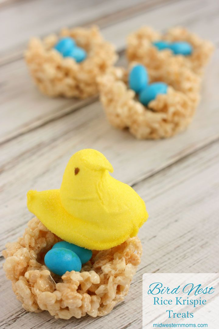 I love finding new ways to create rice krispie treats. These bird nests are perfect for spring time or Easter treats. These treats will quickly disappear.