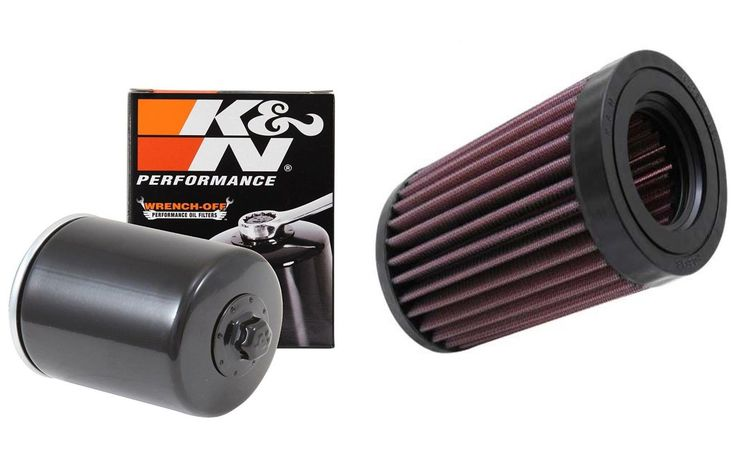 K&N Air and Oil Filter Black Kit for ATV/UTV KAWASAKI Mule 3010 4x4 2007-2008