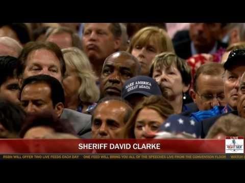 Blue Lives Matter!   Sheriff David Clarke Speech at Republican National Convention (7-18-16)