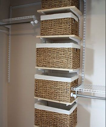 Closet Organization Tips   Basket Storage For Closet   Click Pic For 36 DIY Closet  Organizer