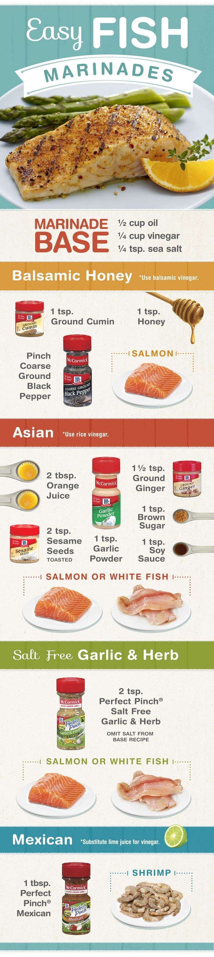 Need a little inspiration during Lent? Make an easy DIY fish marinade with some olive oil, vinegar and spices & herbs.