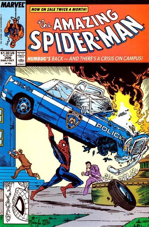 Capa de Amazing Spider-Man emulando a primeira aparição de Superman em Action Comics.