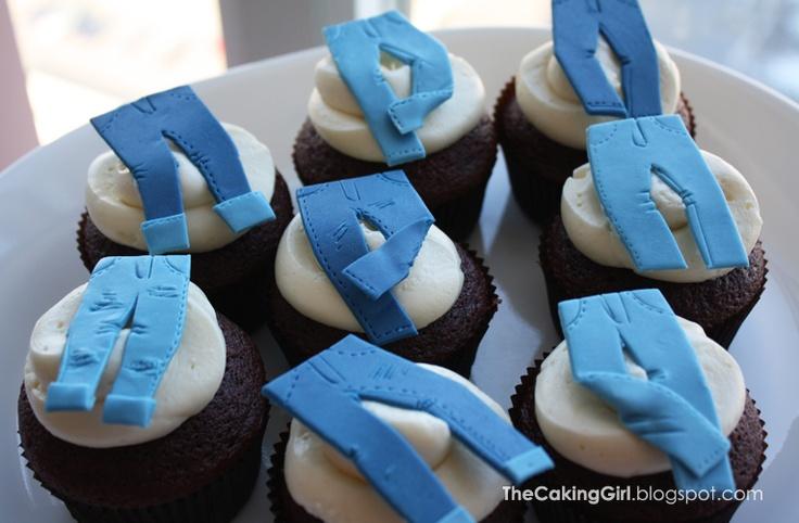 Denim Jean Cupcakes Gumpaste Fondant Cupcake Toppers