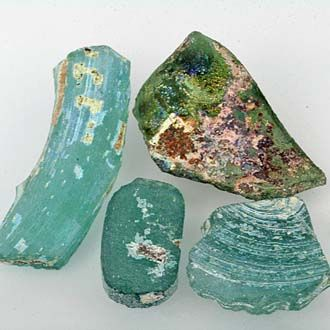 Ancient Glass Fragments - High Patina.
