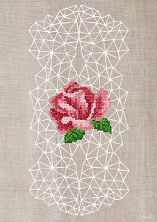 Geometric cross stitch posters