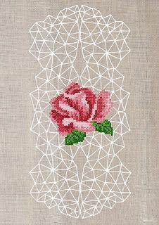 Geometric cross stitch posters