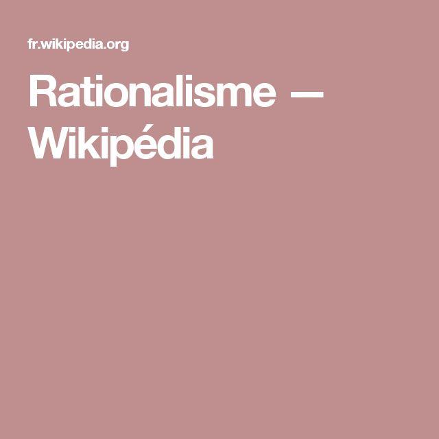 Rationalisme — Wikipédia