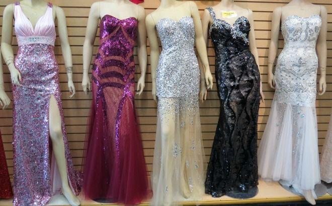 Prom Dresses at the LA Fashion District  Prom  Prom