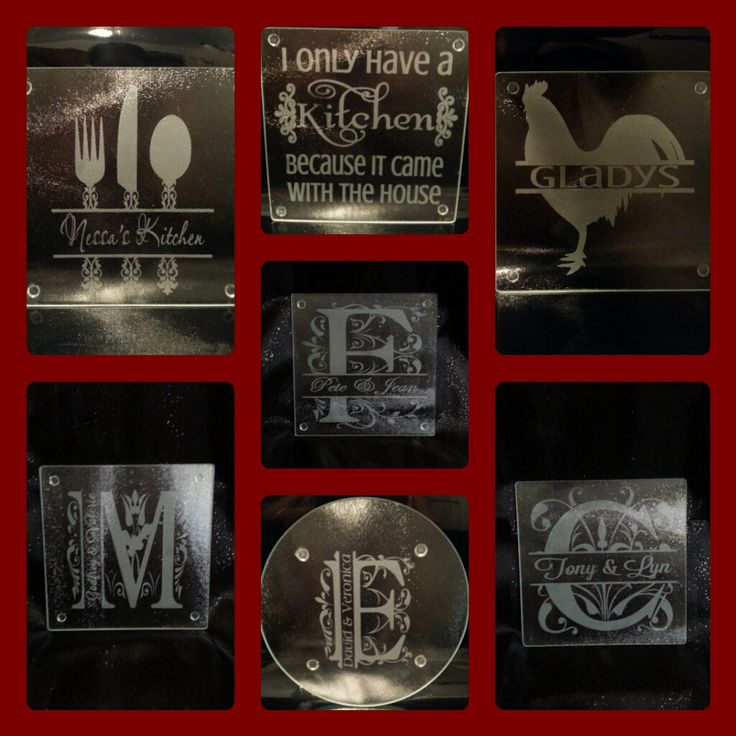 Personalized Etched Glass Cutting Board