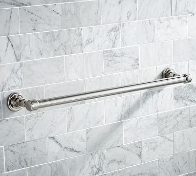 "Benchwright Towel Bar, 24"", Polished Nickel"