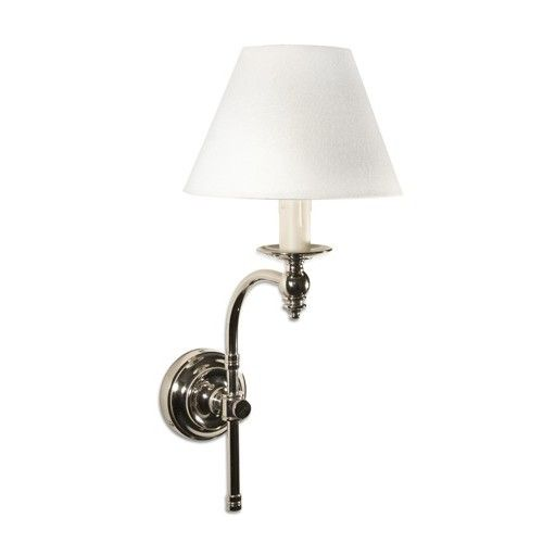 Soho Curved Wall Sconce Nickel