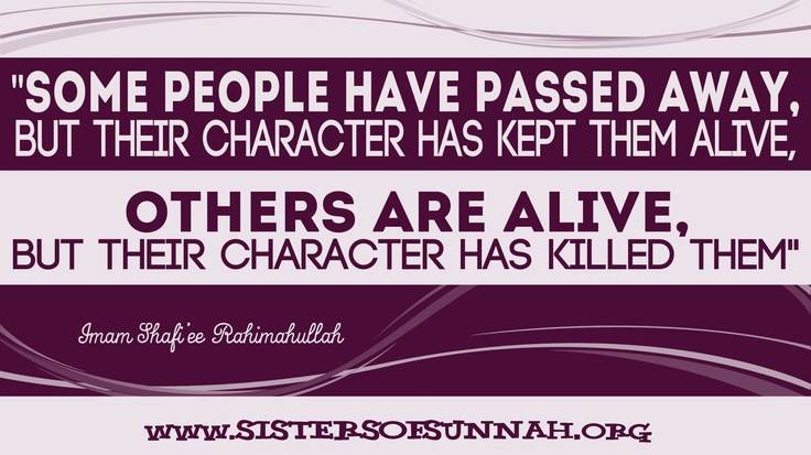 Our character is who we are.