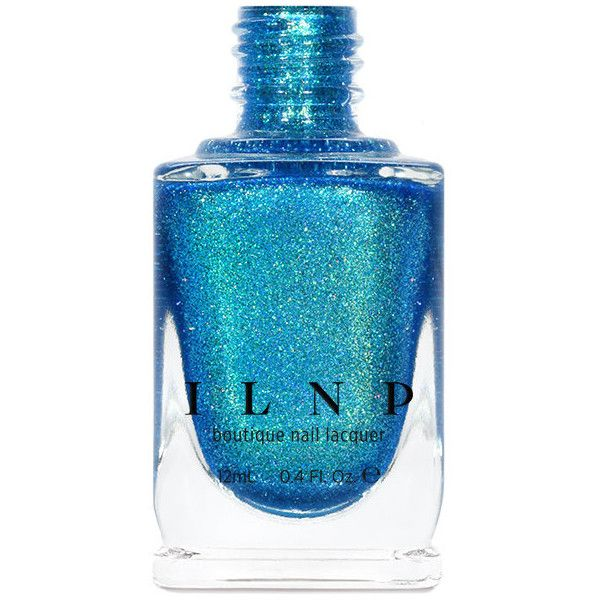 High Tide Bright Blue Green Holographic Nail Polish ($10) ❤ liked on Polyvore featuring beauty products, nail care, nail polish, beauty supplies, craft supplies & tools, grey, nail art supplies, nail polishes, sticker nail polish and shiny nail polish