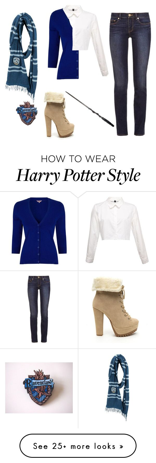 """Ravenclaw"" by bandumb on Polyvore featuring Phase Eight, Tory Burch, harrypotter, hogwarts and ravenclaw"