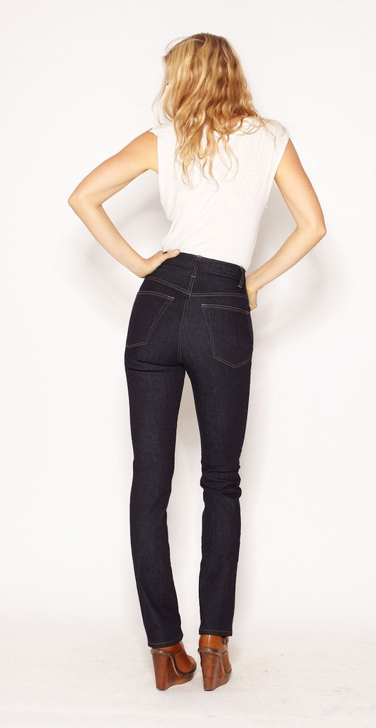 in love with these high-waisted american made jeans!