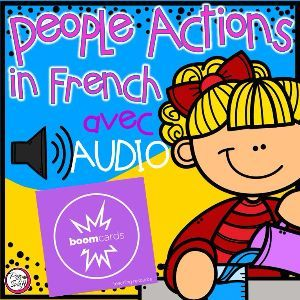 Boom Cards - Les verbes 2 - avec Audio
