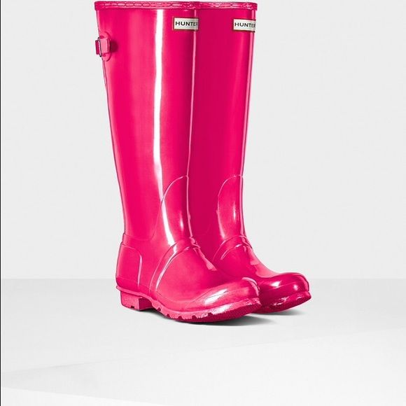 ISO PINK Hunter Adjustable OR Huntress boots Looking for PINK Hunter Adjustable OR Huntress boots in women's US Size 6 or 7. Hunter Boots Shoes Winter & Rain Boots