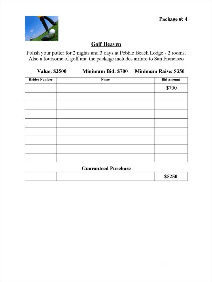 14 silent auction forms templates templates assistant