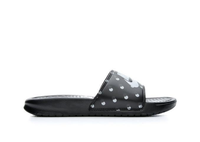 Women's Nike Benassi JDI Print Black/Wolf Grey | Shoe Carnival