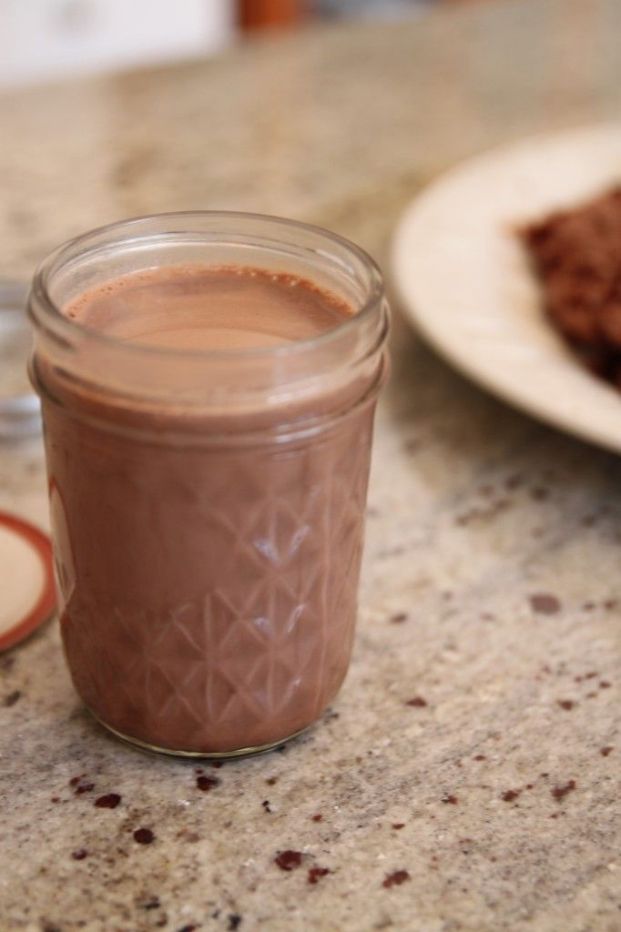 Make homemade salted chocolate coffee creamer... I wonder if this would work just as well w/ coconut milk instead of dairy.