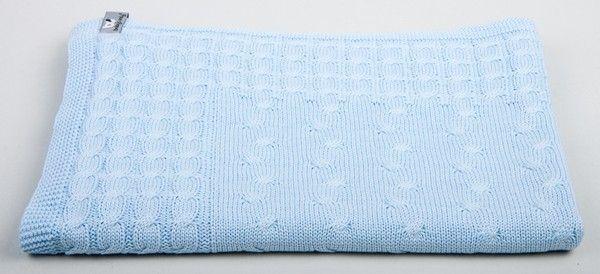 Baby blauwe deken