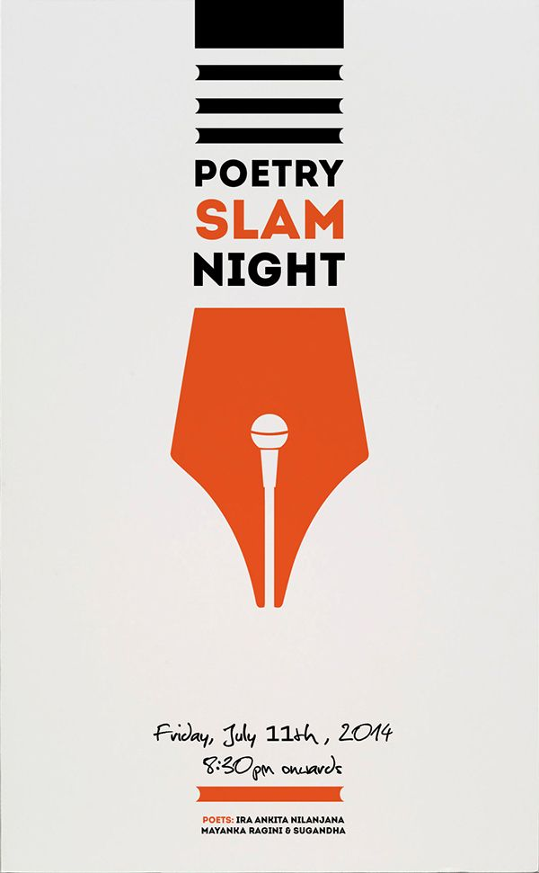 Poster for Poetry Night on Behance