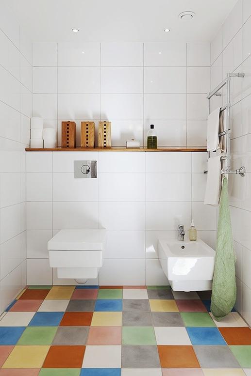multi colour tile floor
