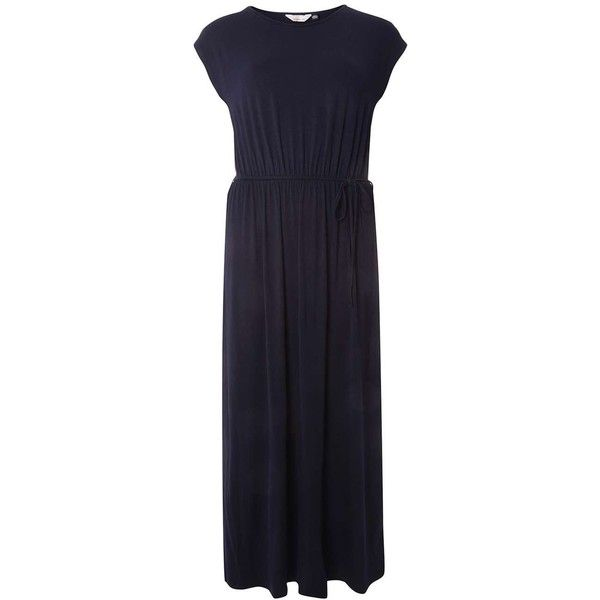 Dorothy Perkins Petite Navy Jersey Maxi Dress ($37) ❤ liked on Polyvore featuring dresses, blue, petite, rayon maxi dress, navy dresses, navy jersey, navy blue dress and navy blue maxi dress