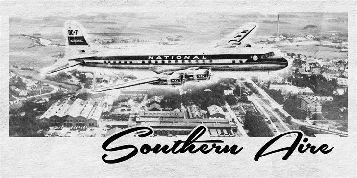 Southern Aire to retro script od Måns'a Grebäck'a, autora tak popularnego wśród naszych czytelników fonta Respective.