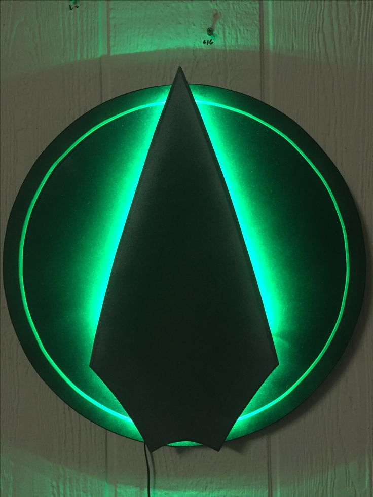 Green Arrow Logo Illuminated Wall Display