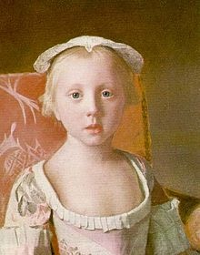 Princess Louisa (1749 - 1768). Daughter of Frederick, Prince of Wales, and Augusta of Saxe-Gotha. She died unmarried.
