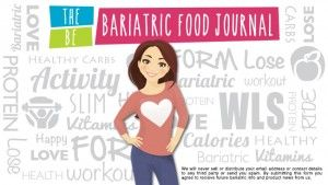 I can do it! Bariatric Food Journal.