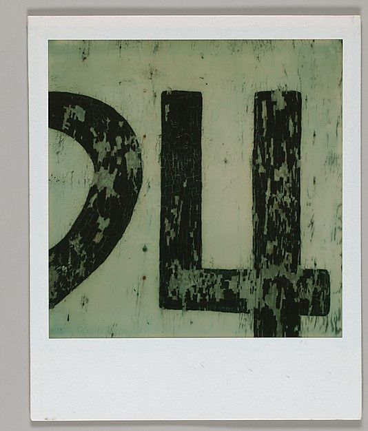 Walker EVANS :: Detail of Sign Numbering, Polaroid, 1974