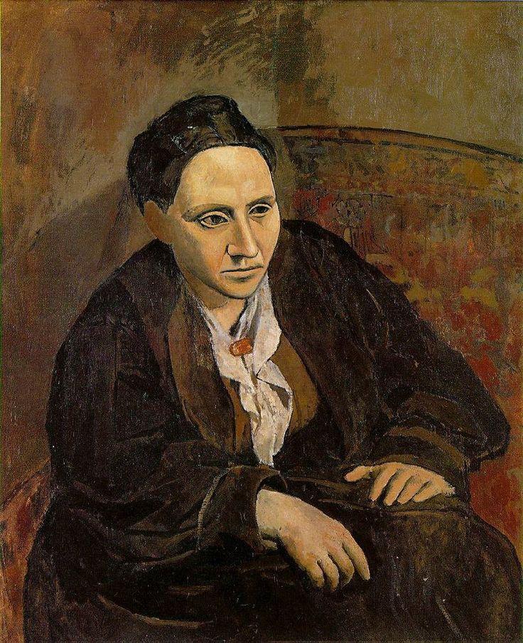 3-Pablo Picasso, Portrait de Gertrude Stein, 1905-1906, MOMA