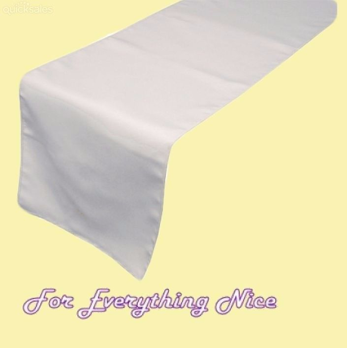 White Polyester Wedding Table Runners Decorations x 5 For Hire by J7339 - $30.00