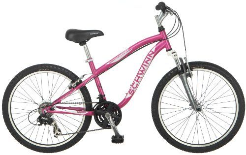 Repin this if you love the outdoors! Schwinn Girl's 24-Inch High Timber Mountain Bike, Pink
