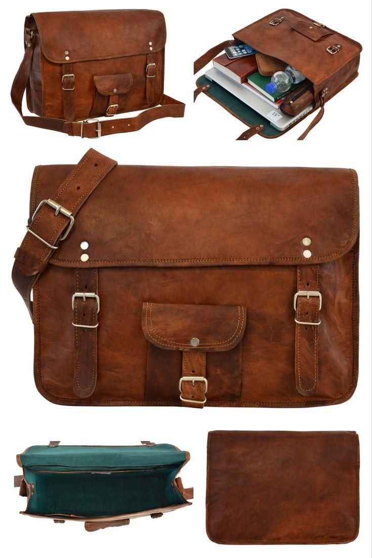 """Die Collegetasche Alex 15"""" in angesagtem Vintage-Style ist der perfekte Begleiter für Uni und Arbeit und sorgt für neidische Blicke unter Kommilitonen und Kollegen. Gusti Leder - U1"""