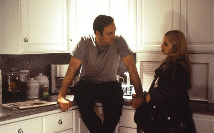 Married man: Kevin Spacey with Mena Suvari in American Beauty 2000