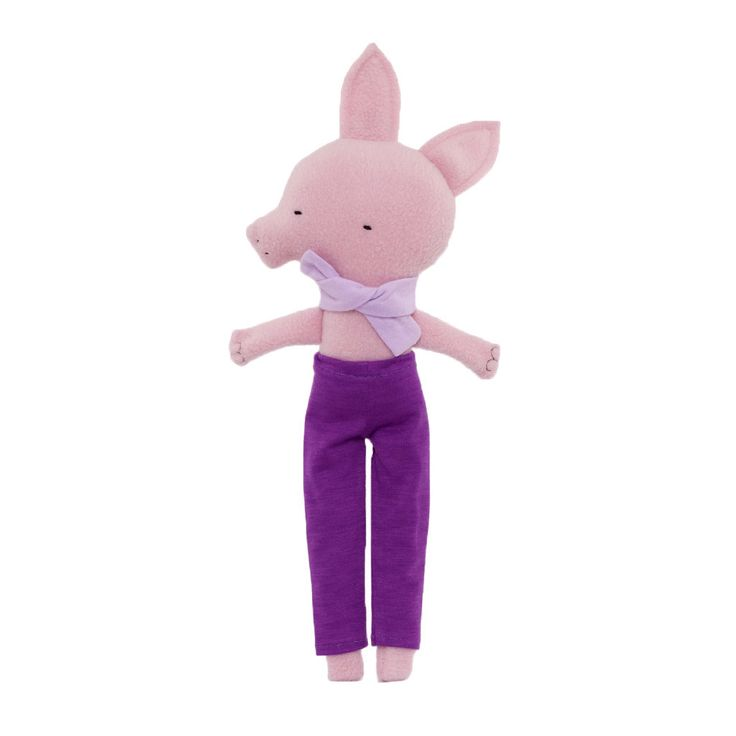 Long-legged Pig in Purple Pants by Silly Dolls Canada