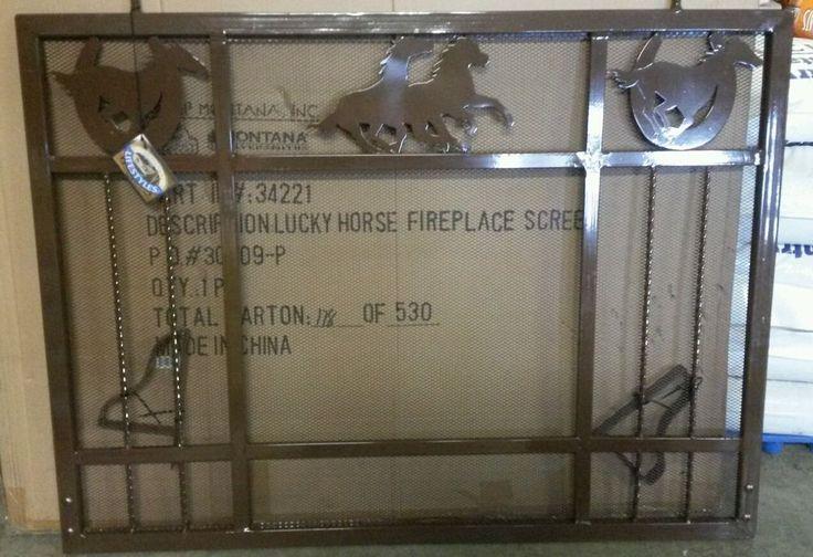 Fireplace Screen Iron and Metal  Western Horse Theme by Montana Silversmith #MontanaSilversmith #Southwestern