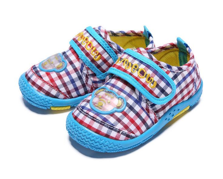 (Buy Two Get The Third Free)New Baby Multicolor Grid Pure Cotton Cloth Shoes  #RainbowBear #WalkingShoes