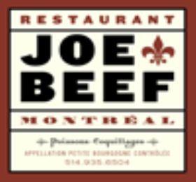 Joe Beef - going on Thursday night!